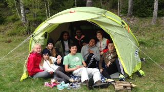 IESE House Captains on a team building camping trip. Students from year 6-9
